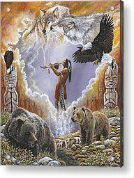 Native American Art Calling The Totems by Syndi Michael. via desert dweller Native American Wisdom, Native American Pictures, Native American Artwork, Native American Beauty, Indian Pictures, American Indian Art, Native American History, American Indians, Indian Pics