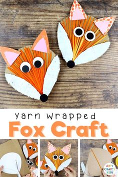Yarn Wrapped Fox Craft: A fun and simple interactive Autumn craft for kids; Incorporating drawing, cutting, painting, gluing and threading, it's a wonderful refresher for those all important fine motor skills. The engaging and tactile craft can be used to support school learning topics. Easy Fox Crafts for Kids Templates | Yarn Wrapping for Kids | Fall Crafts for Kids | Woodland Animal Crafts for Kids | Autumn Crafts for Kids | Fox Kids Crafts | Yarn Crafts for Kids #FoxCrafts #FallCrafts