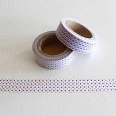 """Masking Washi Tape """"KLEINE LILA PUNKTE / WEISS""""  von Washi-King auf DaWanda.com"""