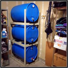 Emergency water storage tower.