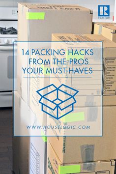 14 Packing Hacks From the Pros That Make Moving Less Awful Packing is the most dreaded part of buying a new home – but it doesn't have to be. Here's how to make the packing process a little less acti Moving House Tips, Moving Home, Moving Day, Moving Tips, Moving Hacks, Moving Stress, Home Buying Tips, Home Selling Tips, Buying A New Home