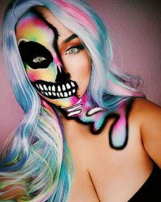 Show off your true colors! Do you have your look picked out? Stop by to make it a reality! Amazing Halloween Makeup, Halloween Eyes, Halloween Makeup Looks, Halloween Party, Halloween Costumes, Cool Makeup Looks, Creative Makeup Looks, Cute Makeup, Scary Makeup