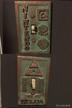 Nintendo Light Switches, would like them better without the letters