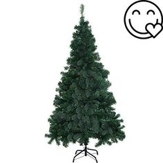 #amazing Enjoy The Look Of A Traditional #Christmas Tree, Even When You Have Little Space. This Classic Pine Unlit Christmas Tree comes with a durable metal base...