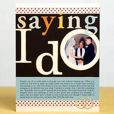Wedding Scrapbook Page ideas