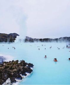 Blue Lagoon in Iceland.