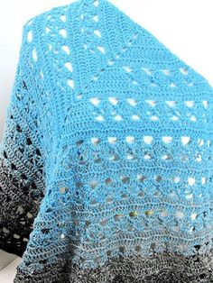 Ravelry: Lunar Crossings Shawl pattern by Kim Guzman Crochet Prayer Shawls, Crochet Shawls And Wraps, Crochet Scarves, Crochet Clothes, Crochet Hats, Knitted Shawls, Crochet Diy, All Free Crochet, Easy Crochet Shawl