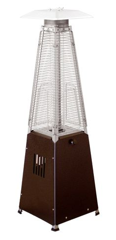 """TFPS Patio Heaters 39"""" Tall Table Top Glass Tube Heater - Hammered Bronze Patio Heater - TFPS-HLDS032-GTTHG Propane Patio Heater, Tall Table, Tube, Bronze, Glass, High Bar Table, Drinkware, Corning Glass, Yuri"""