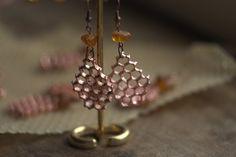 Earrings from real honeycomb  from Galvan-Art by DaWanda.com