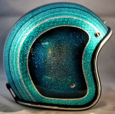 Blue Mexican Blanket One-Of-A-Kind Biltwell custom painted helmet. SOLD For more pics: http://sqi.sh/g5A