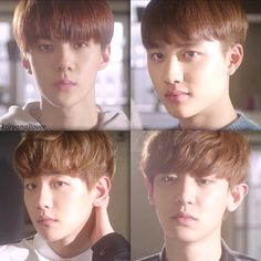Sehun, D.O, Baekhyun, Chanyeol // EXO Next Door.... they look so handsome!