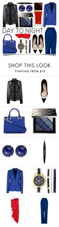 """""""Day to Night: Holiday Party"""" by ittie-kittie ❤ liked on Polyvore featuring Dolce&Gabbana, Miu Miu, MICHAEL Michael Kors, Burberry, Color My Life, Maybelline, Emanuel Ungaro, Lipstick Queen, Vika Gazinskaya and Tom Ford"""