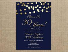 31 best printable birthday invitation templates elegant birthday cheers to 30 years invitation any agewording navy blue and gold birthday filmwisefo