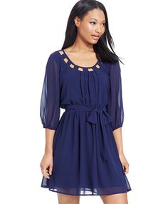 BCX Three-Quarter-Sleeve Dress - this is adorable!