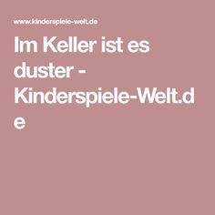 Im Keller ist es duster - Kinderspiele-Welt.de