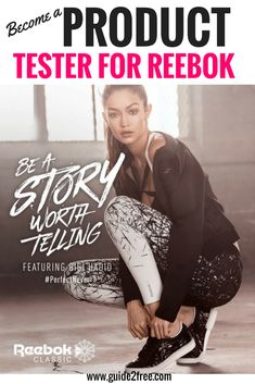Sign up toBecome a Product Tester for Reebok! They are looking for people to test their products and keep daily logs. In exchange they will give you a free Reebok product as our way of saying Thanks.Have you ever wondered how Reebok makes footwear and apparel that truly meet your athletic needs? It's because we test our footwear and apparel on REAL ATHLETES.