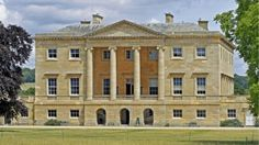 Close view of Basildon Park mansion house taken from the parkland at the front of the house © David Watson