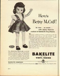 1950's Betsy McCall doll