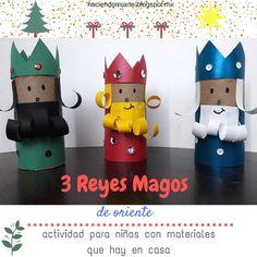 Los 3 Reyes Magos están por llegar, y lo mejor es hacer una actividad con materiales que tienes en casa, ve el tutorial: Christmas Ornament Crafts, Christmas Crafts For Kids, Christmas Projects, Kids Christmas, Holiday Crafts, Easy Crafts For Kids, Art For Kids, Toilet Paper Roll Crafts, Christian Christmas