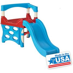 American Plastic Toys My First Climber- for only $39 seems like it'd be crappy but it has good reviews. Hmmmm, might be with it