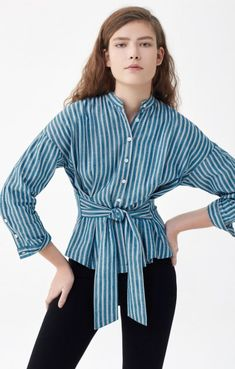 Steffy Blouse in Multi Stripe