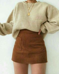 Trendy Fall Outfits, Cute Casual Outfits, Winter Fashion Outfits, Girly Outfits, Retro Outfits, Look Fashion, Stylish Outfits, Korean Fashion, Autumn Outfits