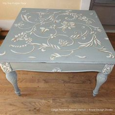 ATTEMPT TO PAINT SOMETHING SIMILAR TO THIS... Large Flourish Allover Stencil by Royal Design Studio