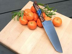 Custom Santoku with Hybrid Handles Chef knife stainless