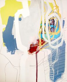 Justine Hill, Under One's Own Steam II 2013, #Acrylic and #pastel on #canvas #abstract #art
