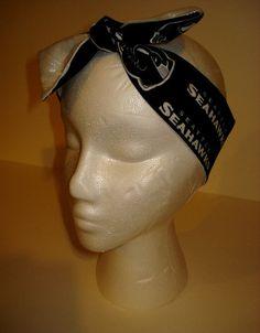 Seattle Seahawks Stretch Twist Bow Headband 4c6c4f568b39