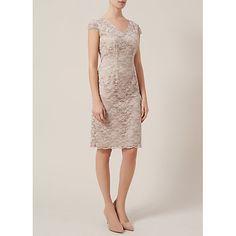 Buy Kaliko Daisy Chain Lace Sheath Dress, Light Neutral Online at johnlewis.com
