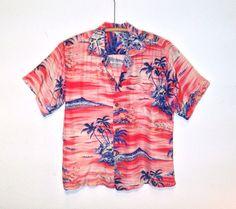 vintage 50's / rayon hawaiian shirt / diamond head / waikiki / by Hookana / Made in Hawaii
