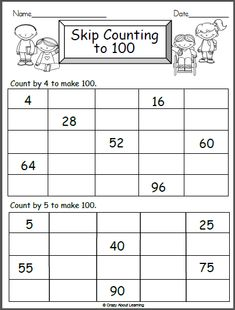 Math Worksheet Counting By 4s and 5s - Made By Teachers