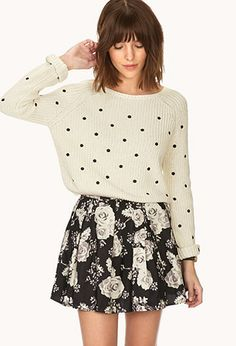 Love skater skirts! Darling Floral A-line Skirt $15.80 #ForeverHoliday #forever21 @Forever 21