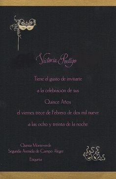 quinceanera invite