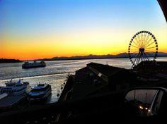 Sunset over Puget Sound