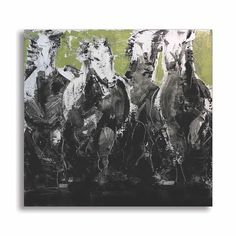 FABIO MODICA // HORSES // The energy of nature is the energy of painting. This piece, which belongs to a series of four paintings, is an attempt to harmonize the two worlds, the natural and the artistic one. The subject portrayed is only an excuse for adopting a technique which has at its core the pictorial gesture and the energy it triggers. // Oil on Canvas 59 x 59 // View more online by visiting abersonexhibits.com // #ExhibitByAberson