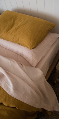 e0428e15217 Ultra luxurious 100% pure French linen sheet set in Blush