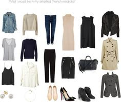 "simplified ""French Wardrobe"""