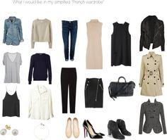 "simplified ""French Wardrobe"""