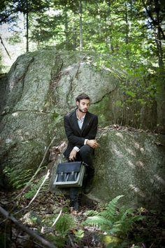 Le Professeur - Black Leather - C comme ÇA #fashion #style #montreal #bags