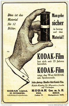 Original-Werbung/ Anzeige 1910 - KODAK ROLLFILM - ca. 90 x 140 mm