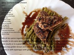 HCG Diet - Phase 2 - Recipe - Spicy Southern Fried Chicken with Asparagus  Recipe by Stephie Part