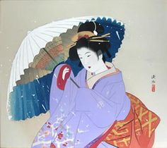 'Snowstorm' woodcut by Shinsui ITO