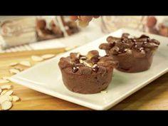 #15SecondRecipe - Quest Chocolate Peanut Butter Cakes - YouTube