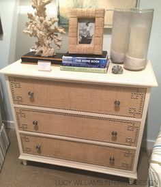 could create this with ikea dresser and fabric/nailheads