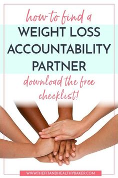 Weight Loss Accountability: Why You Need it and How to Get It. Accountability partners provide the support you need to reach your weight loss goals. Click through to get a list of 13 ways you can get a weight loss accountability partner. Best Weight Loss Plan, Weight Loss For Women, Weight Loss Goals, Weight Loss Motivation, Lose Weight In A Week, Losing Weight Tips, Want To Lose Weight, Weigh Loss, Weight Loss Smoothies