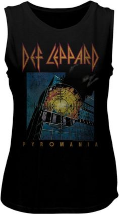 9e910f3c7bcdf This women s Def Leppard vintage style fashion t-shirt spotlights the  Pyromania album cover artwork