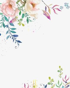 hand-painted flower border, Hand Painted Flowers, Decoration, Lace PNG Image and Clipart Flower Border Png, Floral Border, Art Watercolor, Watercolor Flowers, Flower Frame, Flower Art, Png Floral, Flower Clipart, Flower Backgrounds
