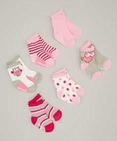 Another great find on #zulily! Pink Owl Socks Set by Little Me #zulilyfinds